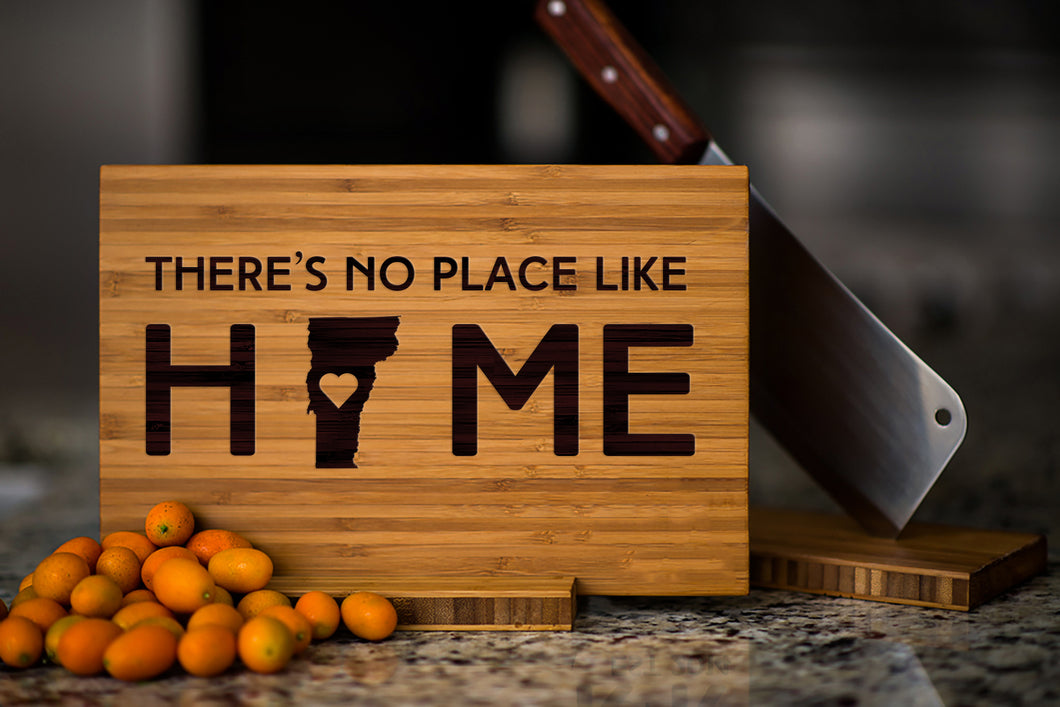 Vermont State Engraved Cutting Board, Personalized