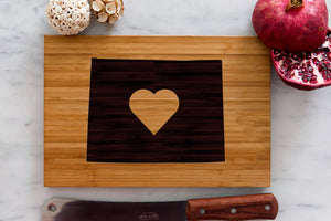Wyoming State Engraved Cutting Board, Personalized