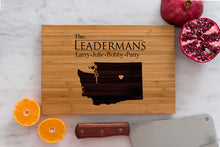 Washington State Engraved Cutting Board, Personalized