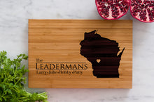 Wisconsin State Engraved Cutting Board, Personalized