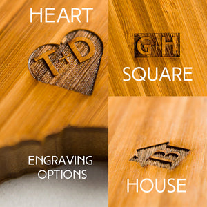 Engraving options for the Connecticut State Shaped Cutting Board