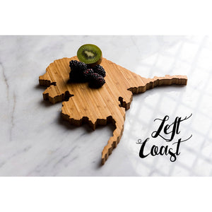 Alaska State Shaped Cutting Board from Left Coast Original