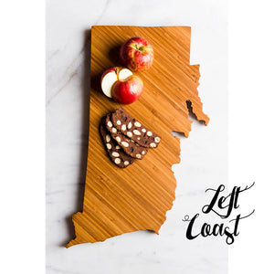 Rhode Island Cutting Board Personalized State Wedding Gift Home Men Chef Dad Mom Grad Monogram
