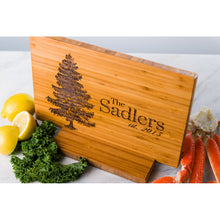 Personalized Cutting Board or Serving Tray Pine Tree Wedding Men Mom Dad Anniversary Engraved