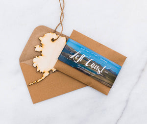 Ornament State Wood Alaska Hanging Gift Magnet Wedding Favor Home Wanderlust Travel Big Laser Cut
