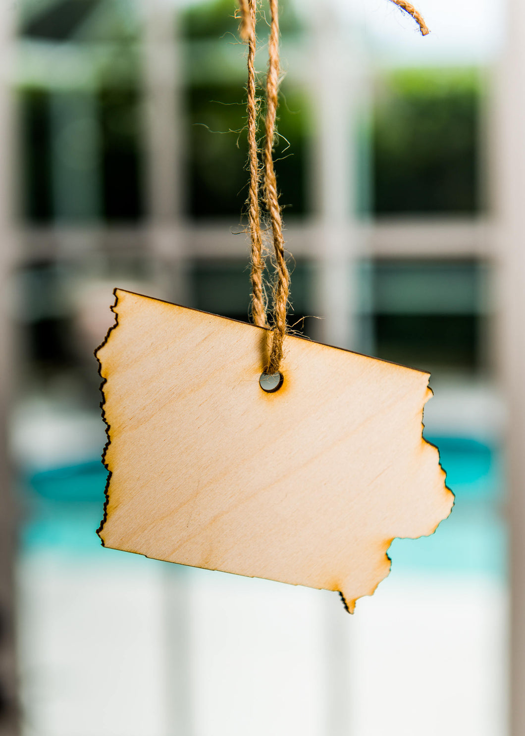 Ornament  State Wood Iowa Hanging Gift Magnet Wedding Favor Home Wanderlust Travel Big Laser Cut Free Shipping Ships Fast
