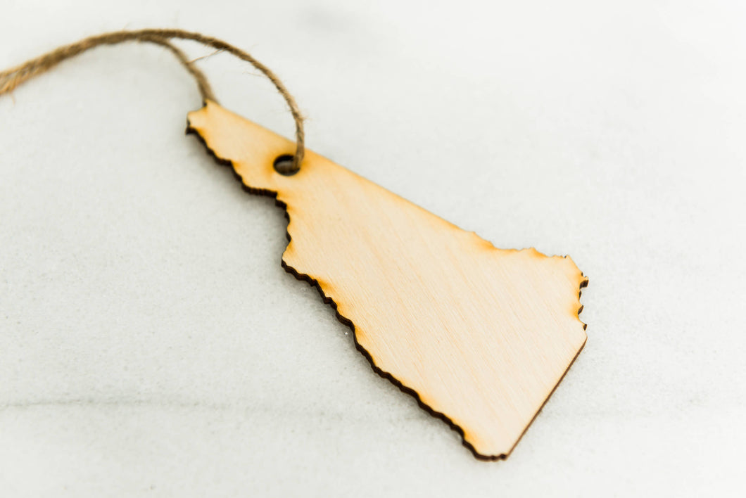 Ornament State Wood  New Hampshire Hanging Gift Magnet Wedding Favor Home Wanderlust Travel