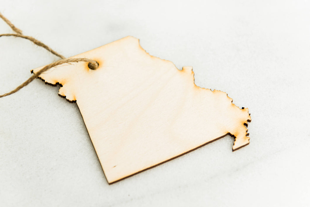 Ornament State Wood Missouri Hanging Gift Magnet Wedding Favor Home Wanderlust Travel Big Laser Cut