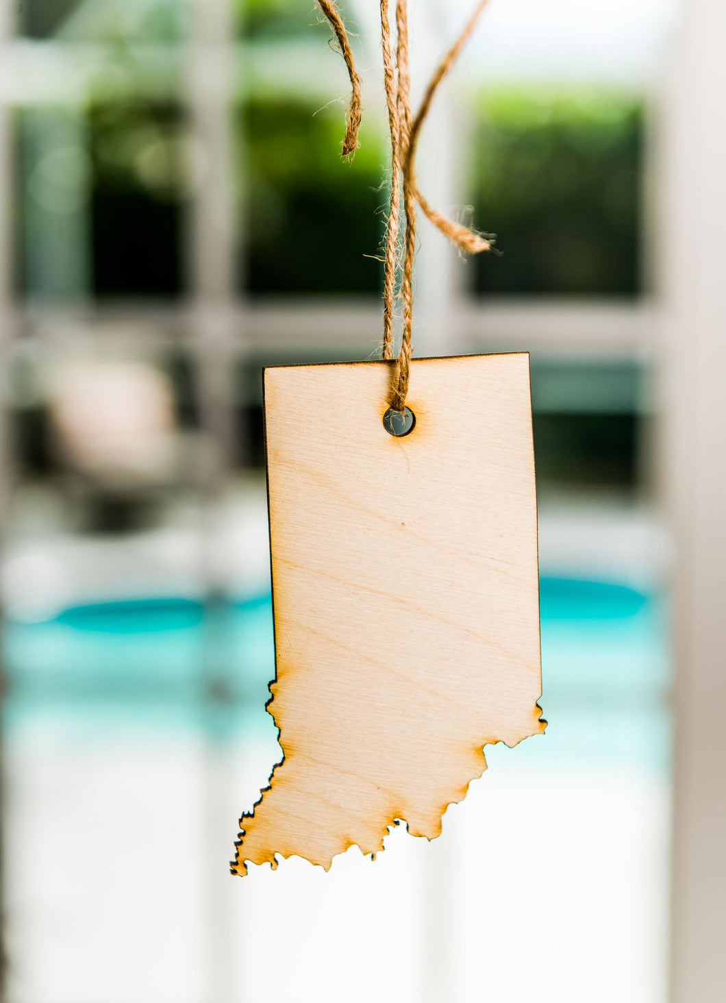 Indiana State Shaped Hanging Tree Ornament