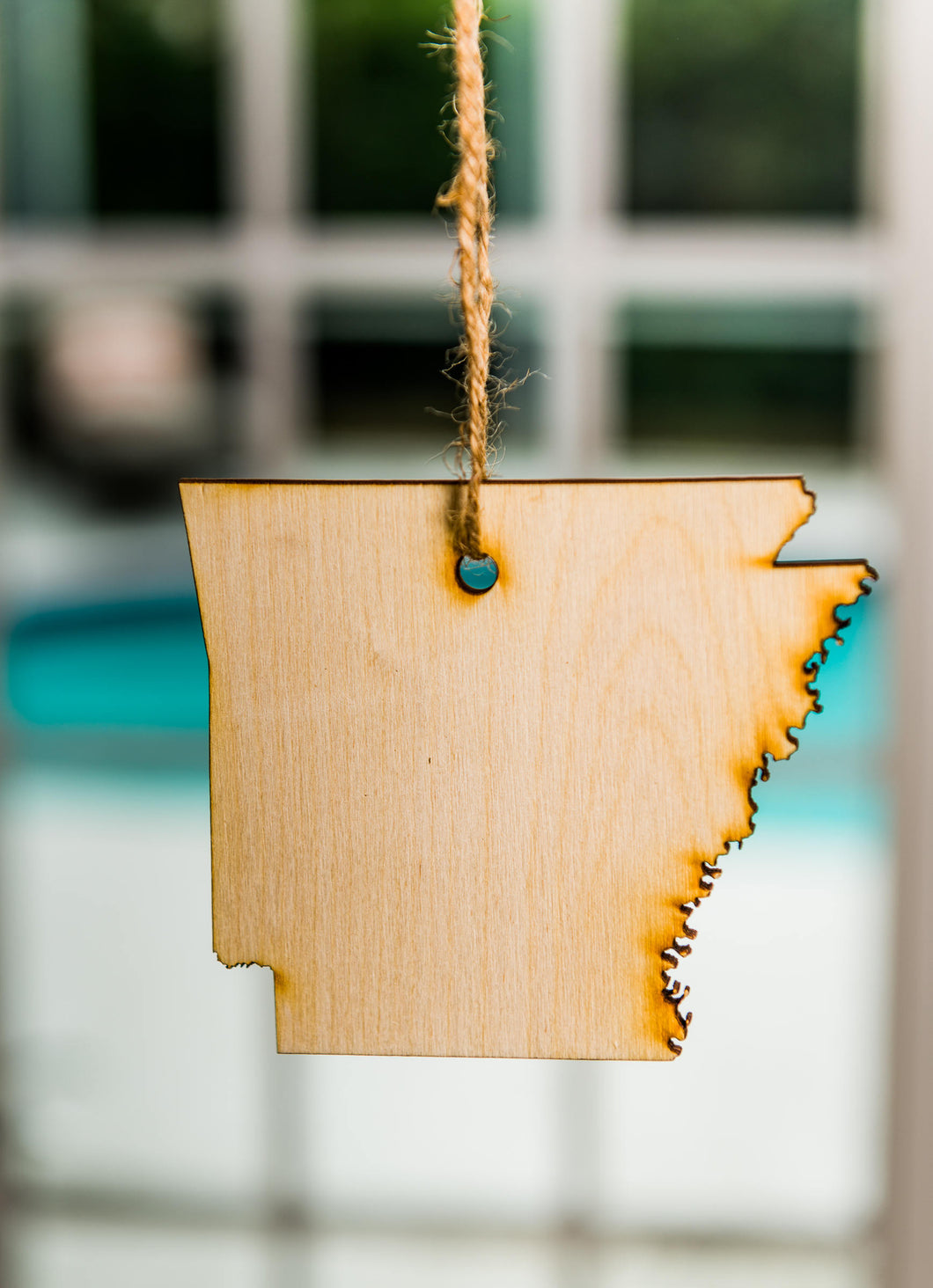 Arkansas State Shaped Hanging Tree Ornament