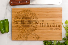 Personalized Cutting Board Sunflower Mom Mothers Dad Anniversary Engraved Monogram Initials