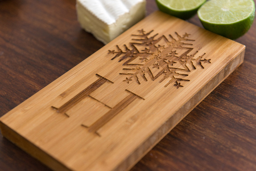 Personalized Board Snowflake Dad Mom Grad Wedding Anniversary Monogram Initial Engraved Cheese Board