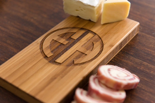 Personalized Cutting Board Dad Father Mom Wedding Anniversary Monogram Initials Engraved Cheese