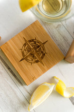 Coasters Sailing Anchor Compass Nautical Mom Fathers Day Anniversary Dad Men Boyfriend Gift Engraved