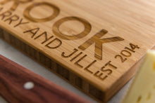 Close-up corner of Engraved Name Personalized Bamboo Cutting Board