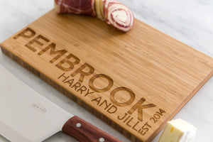 Engraved Name Personalized Bamboo Cutting Board