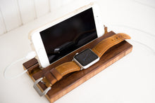 Docking Station Apple Watch Dock All iPhones Stand Mom Dad Son Daughter Gift iWatch Personalized Phone Charging Wood Quotes