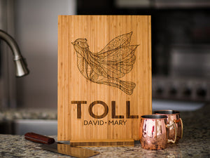 Personalized Family Name Dove Cutting Board