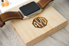 Triple Slot Apple Watch Charging Dock Gift Guy Anniversary Organized Him Dad Mom Personalized Grad