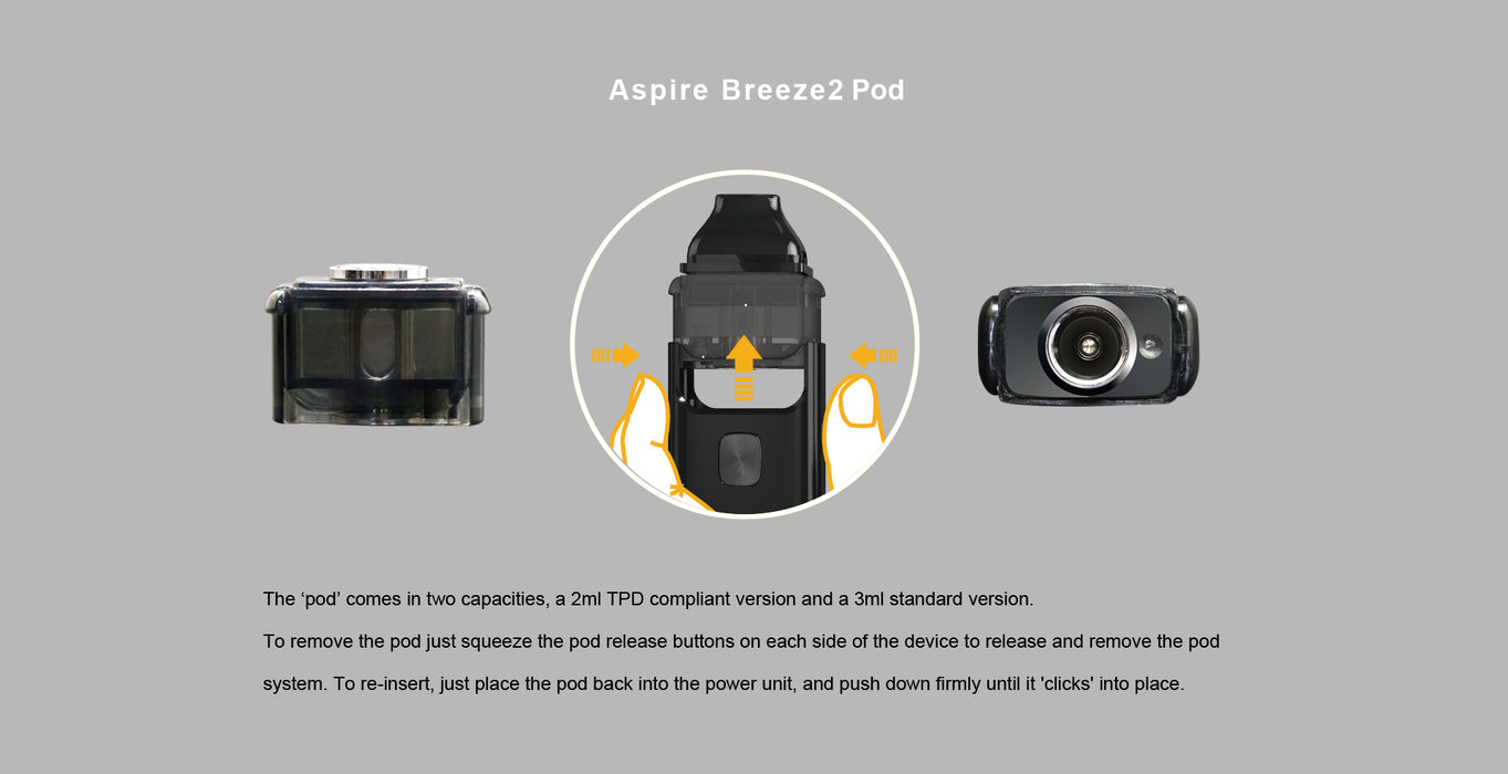 Aspire Breeze 2 Pod System - Vapor in a Bottle