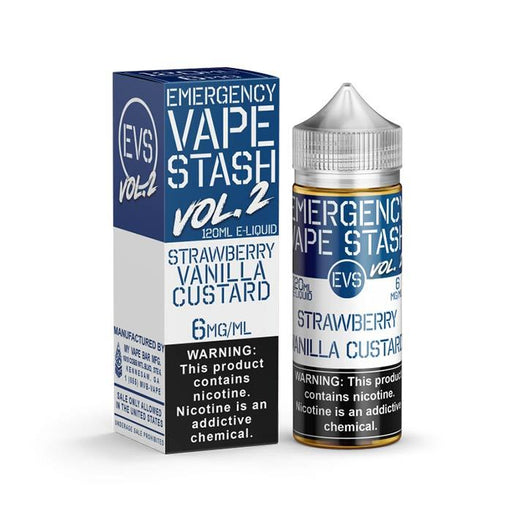EVS - Emergency Vape Stash - Strawberry Vanilla Custard - Vapor in a Bottle