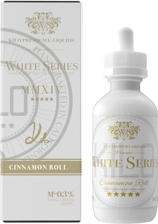 Kilo - White Series - Cinnamon Roll - Vapor in a Bottle