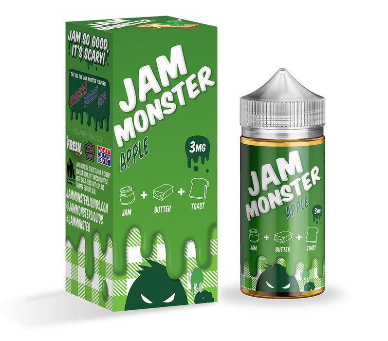 Jam Monster - Apple - Vapor in a Bottle
