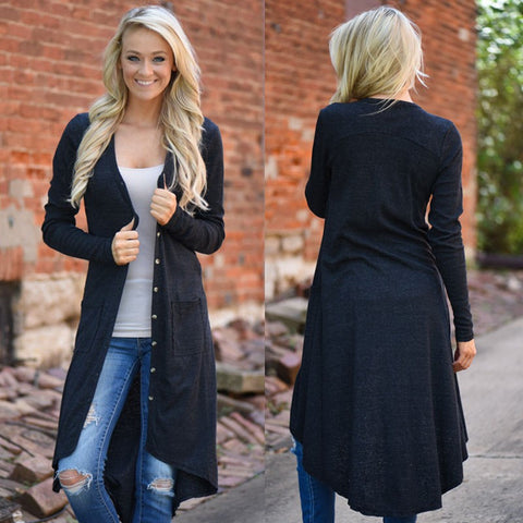 Loose Knit Long Sweater Jacket