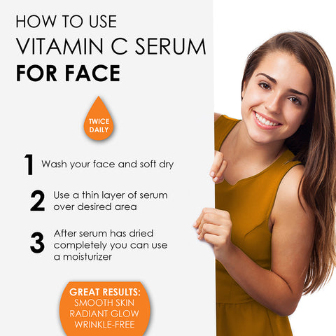 Image of 𝗣𝗢𝗪𝗘𝗥𝗙𝗨𝗟 𝗩𝗜𝗧𝗔𝗠𝗜𝗡 𝗖 𝗦𝗘𝗥𝗨𝗠 𝗳𝗼𝗿 𝗳𝗮𝗰𝗲 with Hyaluronic Acid Serum - This Face Serum Will Hydrate, Brighten & Plump Skin While Filling In Those Fine Lines & Wrinkles. B0843H644M, UPC: 700461919971