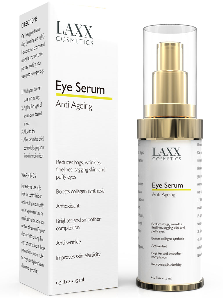 Powerful Anti Ageing Eye Serum for Dark Circles & Puffiness - Anti Wrinkle Eye Serum - Reduces Wrinkles, Bags, Saggy Skin & Puffy Eyes! High Quality Ingredients - Q10 - Matrixyl 3000 - Eye Treatment - B07GQBJ97Y