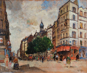 Original Maurice Fallies  (1883-1965) : Rue Saint Antoine in Paris