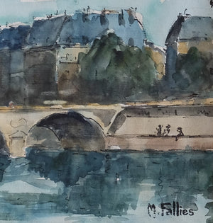 Original Watercolor : Pont Saint Michel