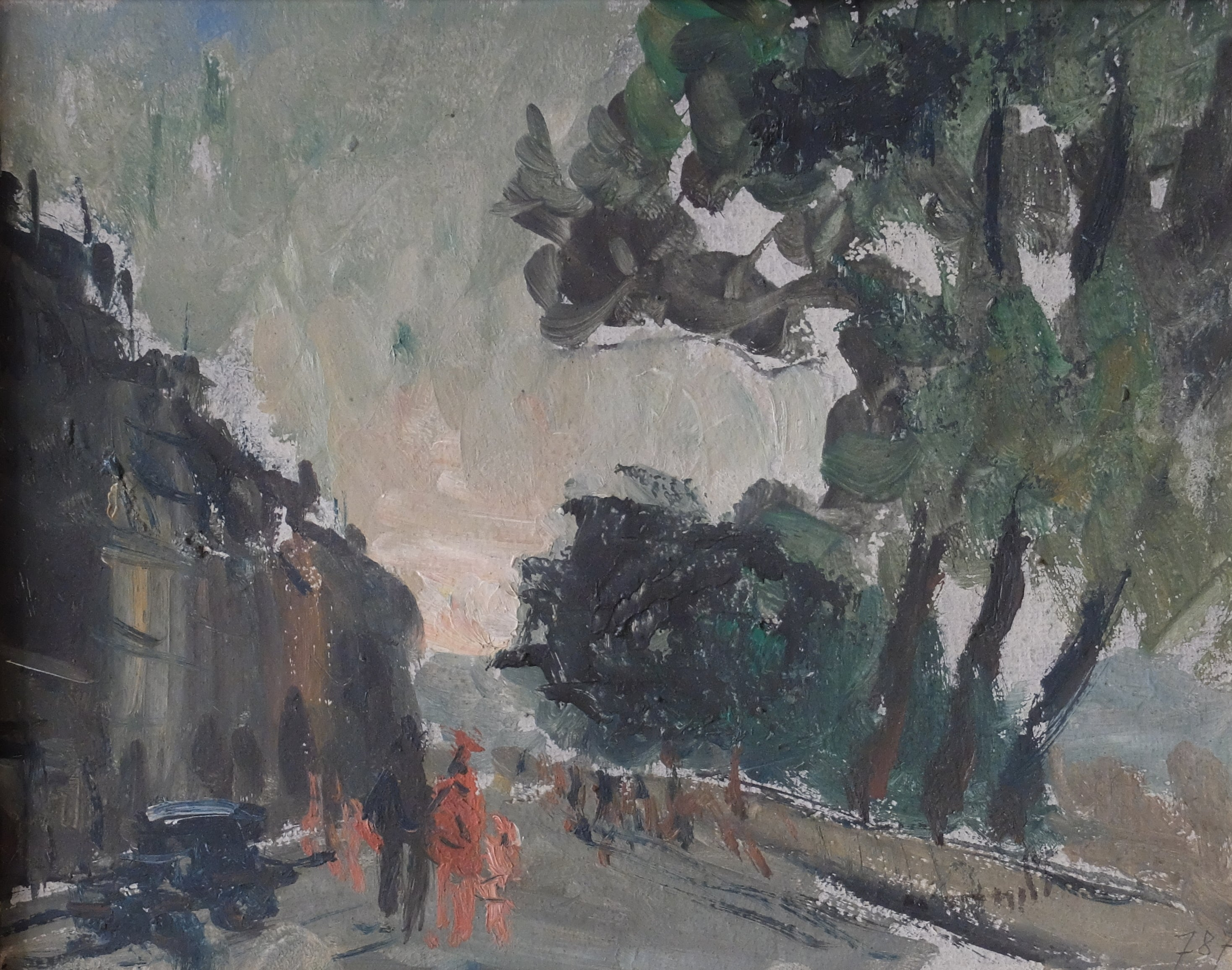 original oil painting : Quain de Seine in Paris