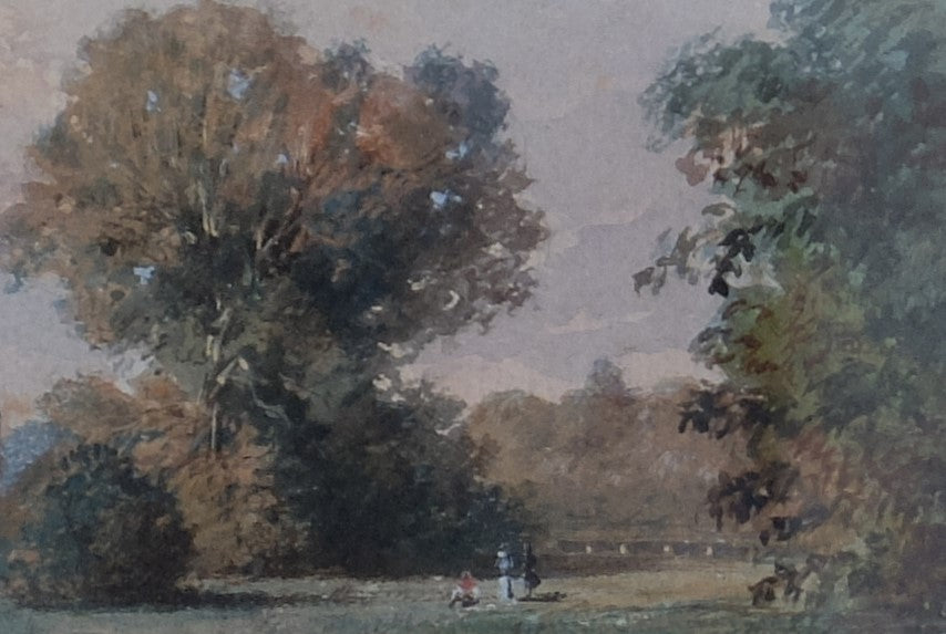 Original Paintings at Place Dauphine: Chateau de Rambouillet