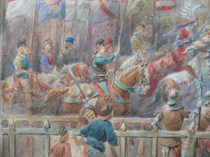 Original Watercolor : A Chevalier Battle Game
