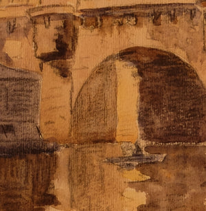Original Maurice Fallies (1883-1965) : Pont Neuf, Paris
