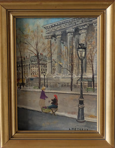 Original Paintings at Place Dauphine: Flower Seller Place de la Madeleine