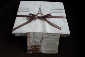Eiffel Tower Luxury Square Throw Pillow Cover (1 pc)