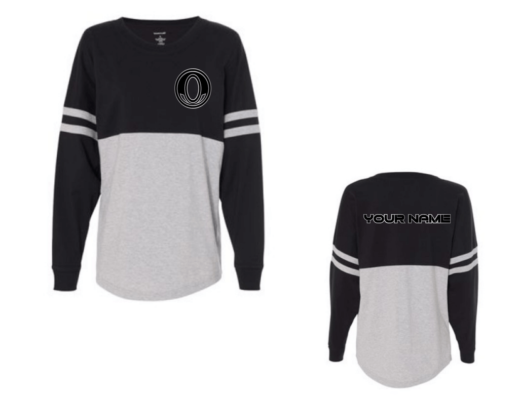 *CUSTOMIZABLE Black/Gray Spirit Jersey