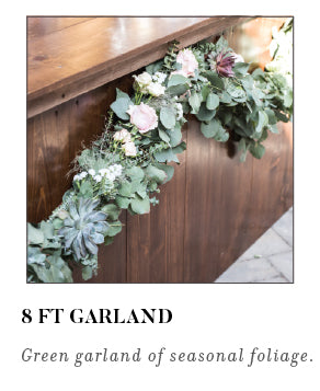 8 ft Garland Green garland of seasonal foliage
