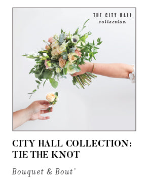 City Hall Collection Tie The Knot Bouquet and Bout