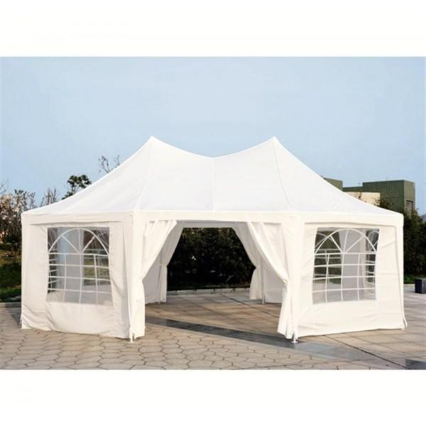 Outdoor Event Tent 22.3ft Octagonal Wedding Party Outdoor Shelter with 8 Removable Walls - White