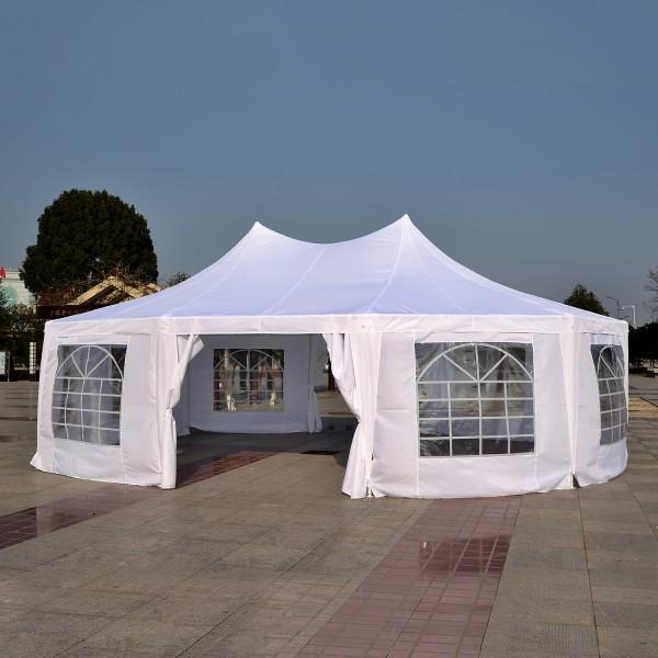 29' x 20' Large 10-Wall Event Outdoor Wedding Reception Gazebo Canopy Tent - White