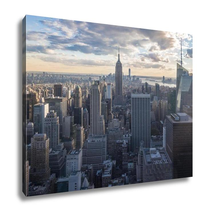 Gallery Wrapped Canvas, New York City Skyline At Dusk