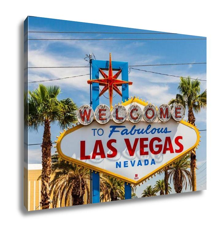 Gallery Wrapped Canvas, Welcome To Fabulous Las Vegas Sign Nevada