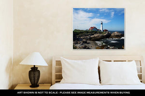 Gallery Wrapped Canvas, Portland Head Lighthouse In Maine