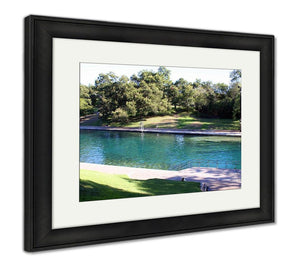 Framed Print, Barton Springs Pool In Austin Texas