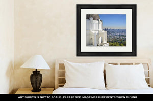 Framed Print, Los Angeles Californiusdowntown Skyline Viewed From Griffith