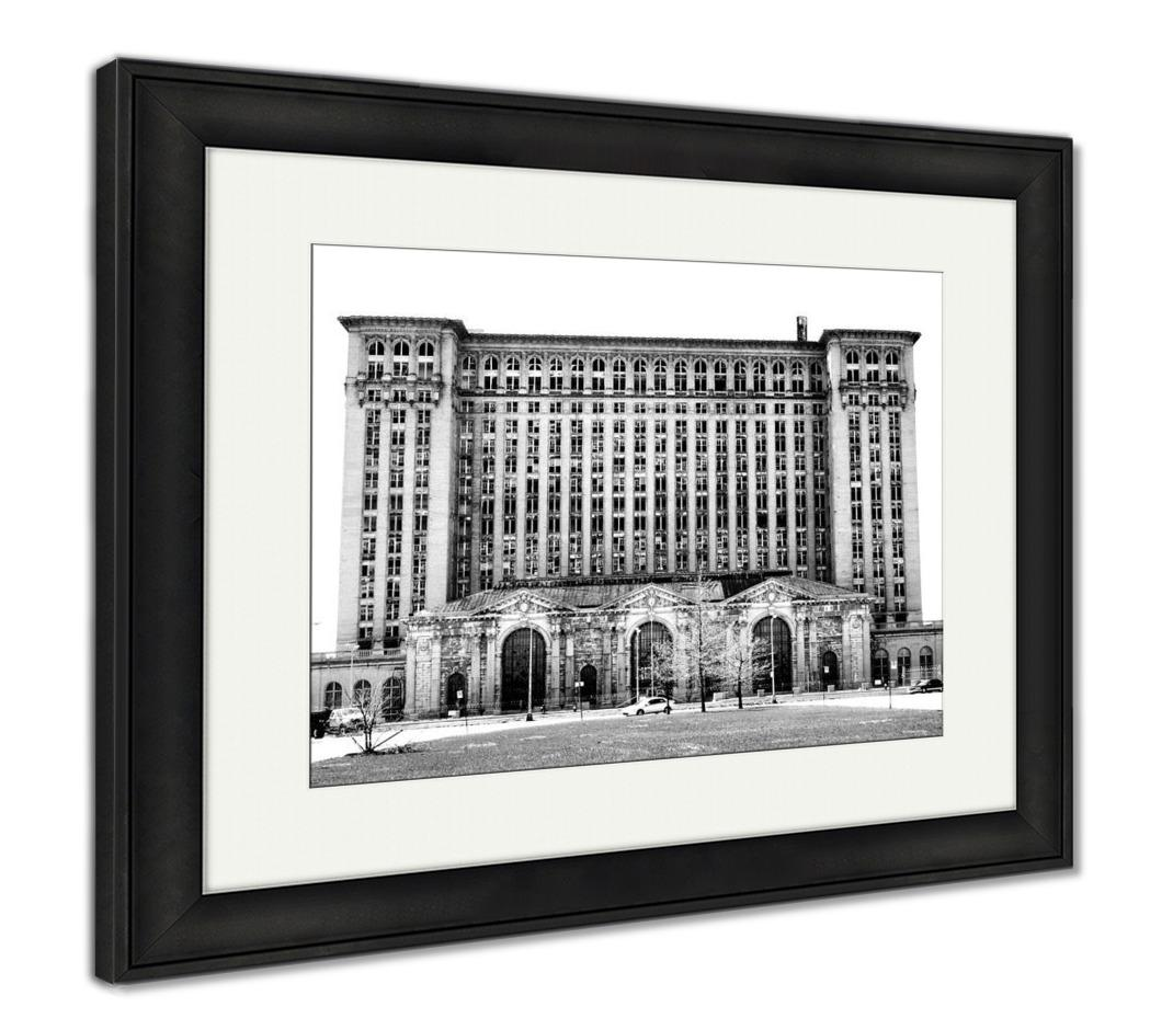 Framed Print, Michigan Central Station Detroit Michigan