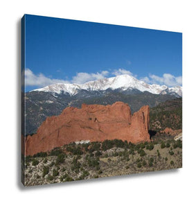 Gallery Wrapped Canvas, Pikes Peak in Colorado Springs Garden of the Gods